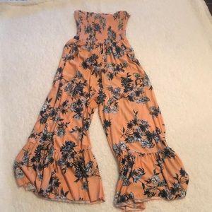 BP. Strapless smocked jumpsuit xxs from Nordstrom